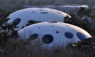 """UFO"" Buildings Show In Rizhao"