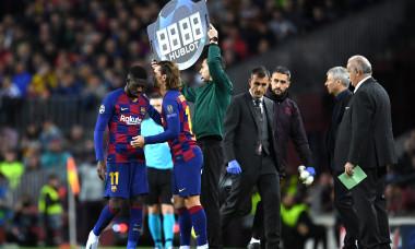 Ousmane Dembele, alături de Antoine Griezmann în meciul Barcelona - Borussia Dortmund / Foto: Getty Images