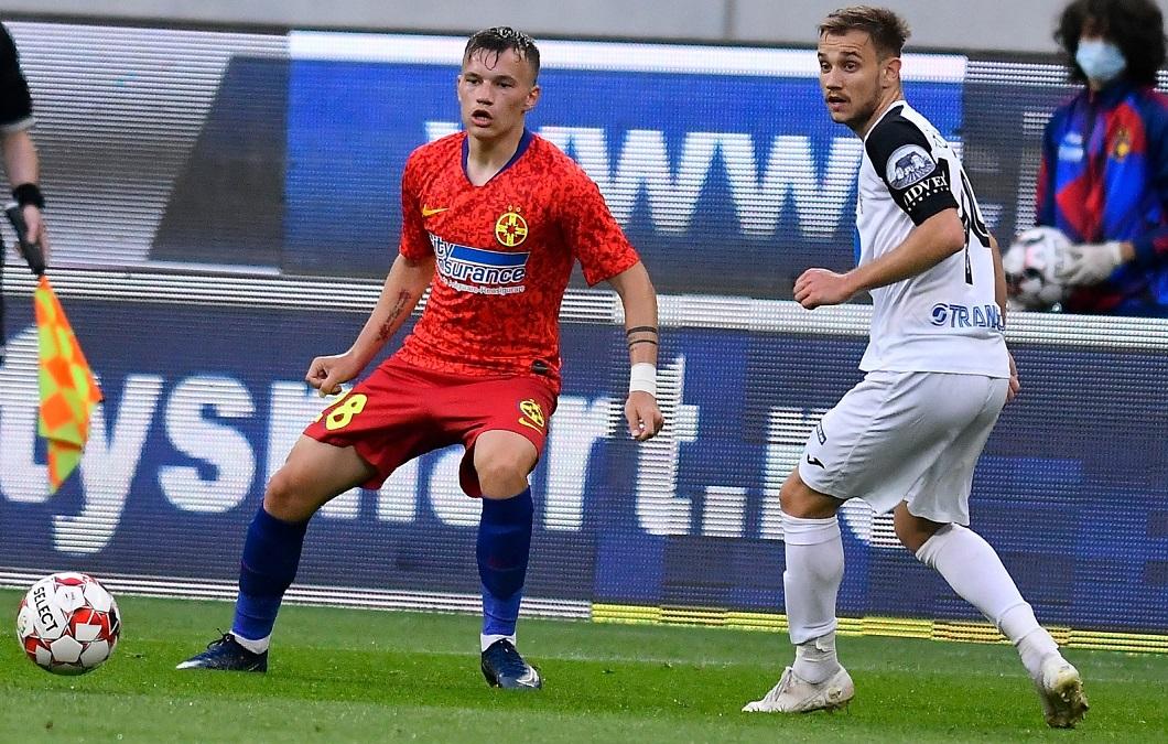 Alexandru Pantea, marea surpriză de la FCSB! Primul jucător născut în 2003 care evoluează în Liga 1