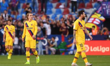 Lionel Messi și Antoine Griezmann, în timpul meciului Levante - Barcelona / Foto: Getty Images