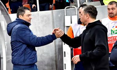 Laurențiu Reghecampf și Ilie Stan, înaintea unui meci FCSB - ASA Târgu Mureș / Foto: Sport Pictures