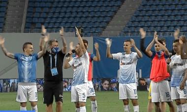 Jucătorii Craiovei, la finalul meciului cu Botoșani / Foto: Captură Digi Sport