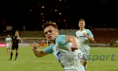 Cristi Dumitru a reușit un gol și o pasă decisivă în derby-ul cu Dinamo / Foto: Captură Digi Sport