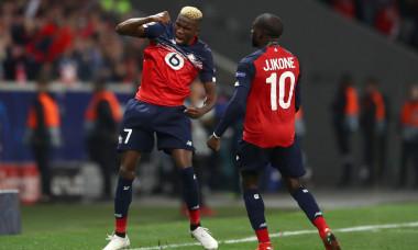 Victor Osimhen și Jonathan Ikone, în tricoul lui Lille / Foto: Getty Images