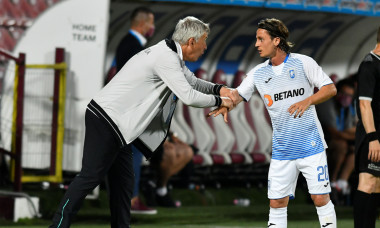 Cristiano Bergodi, alături de Gustavo Vagenin, în timpul meciului CFR Cluj - Universitatea Craiova / Foto: Sport Pictures