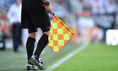 Arbitru de margine, în timpul unei partide de Bundesliga / Foto: Getty Images