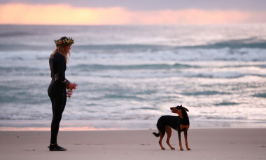 Surfers Gather At Palm Beach In Memory Of Alex 'Chumpy' Pullin