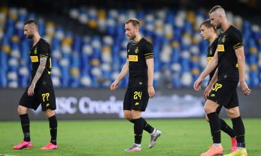 Fotbaliștii lui Inter, după meciul cu Napoli / Foto: Getty Images