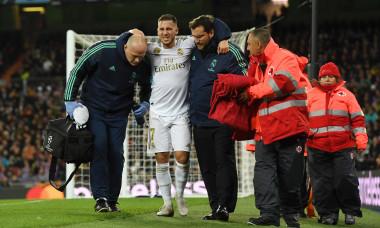 Eden Hazard, după accidentarea suferită în meciul cu PSG / Foto: Getty Images