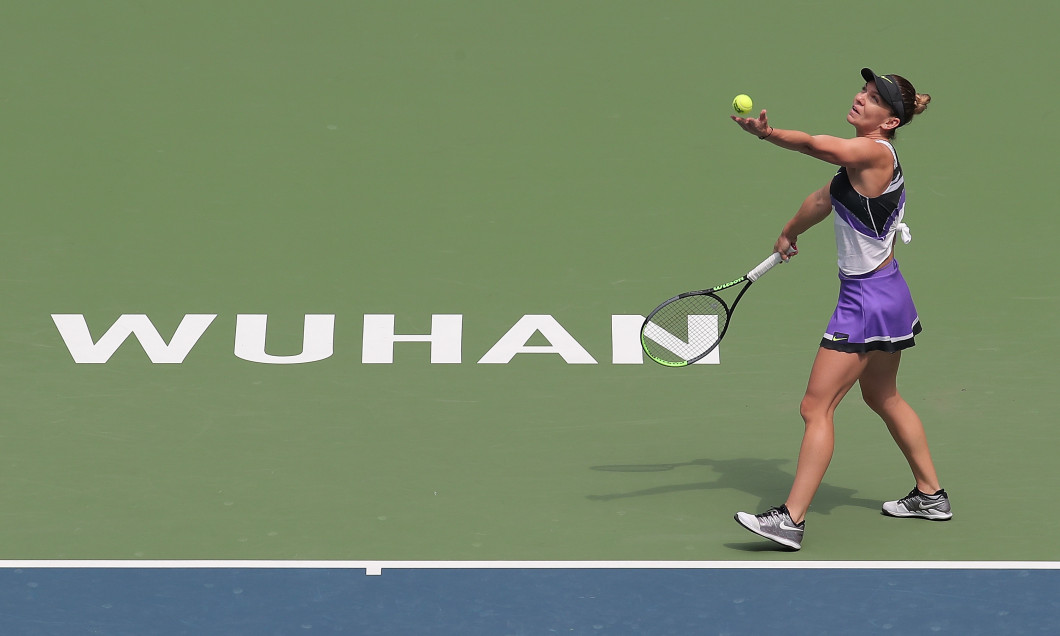 Simona Halep, la Wuhan Open, în 2019 / Foto: Getty Images