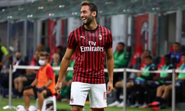 Hakan Calhanoglu, după golul marcat în poarta Atalantei / Foto: Getty Images