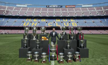 Xavi - trofeele de la Barcelona