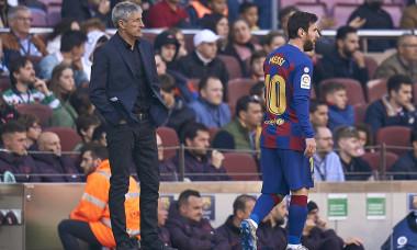 Leo Messi și Quique Setien