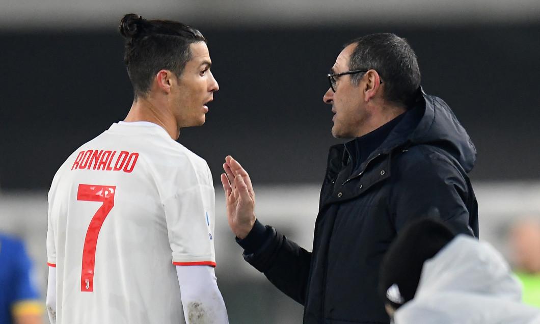 Maurizio Sarri și Cristiano Ronaldo / Foto: Getty Images