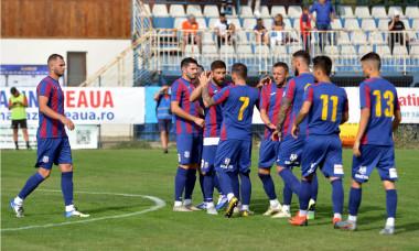 Jucătorii de la CSA Steaua, într-un meci cu Concordia Chiajna / Foto: Sport Pictures