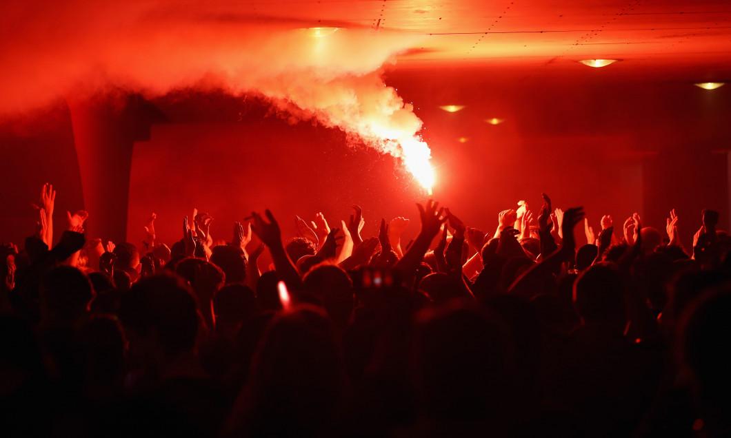 Suporterii lui Dinamo Kiev, la Amsterdam / Foto: Getty Images