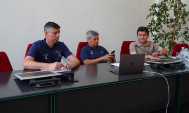 Emil Caras, Mircea Lucescu, Arcadie Zaporojanu