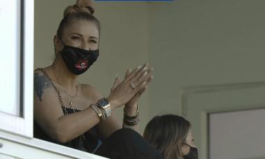 Anamaria Prodan, în tribune la un meci jucat de Hermannstadt / Foto: Captură Digi Sport