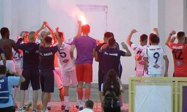 Sărbătoare la Pitești, după ce FC Argeș și UTA au promovat / Foto: Captură Digi Sport