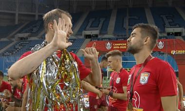 """Arlauskis și-a luat adio de la CFR: """"Ultimul meci cu gladiatorii mei! Plec cu zâmbetul pe buze, dar sufletul plânge"""""""