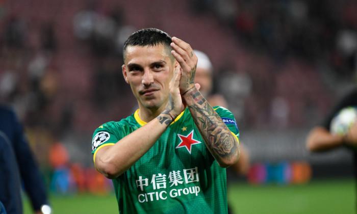 Nicolae Stanciu, la finalul meciului CFR Cluj - Slavia Praga 0-1 / Foto: Sport Pictures