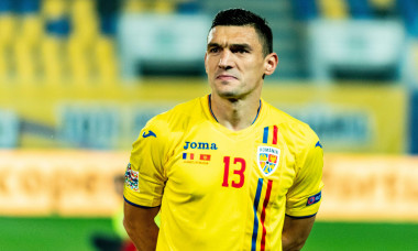 Ploiesti, Romania. 7th September 2018. Claudiu Keseru #13 (Romania) during the Soccer, UEFA Nations League 2019, Final Tournament, game between the national teams of Romania (ROU) and Montenegro (MNE) at Ilie Oana Stadium, Ploiesti, Romania ROU. Foto: