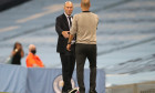 Pep Guardiola și Zinedine Zidane, după meciul direct din Champions League / Foto: Getty Images