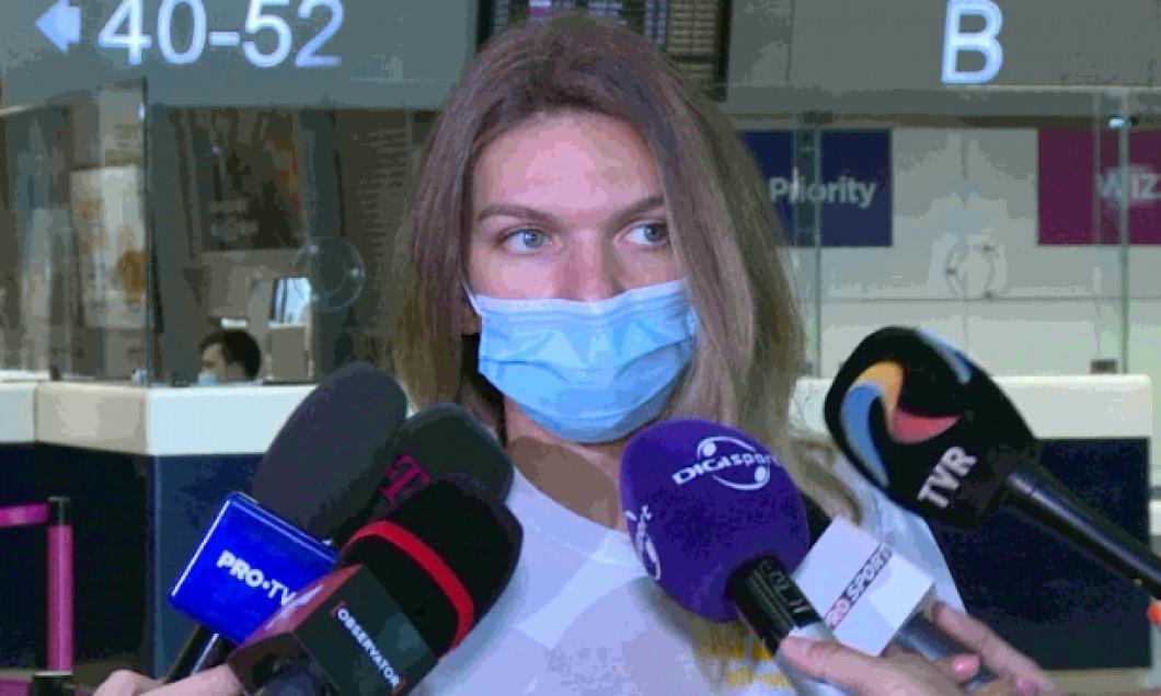 Simona Halep, înainte de plecarea la Praga / Foto: Captură Digi Sport