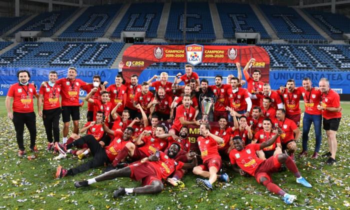 CFR Cluj, după câștigarea titlului / Foto: Sport Pictures