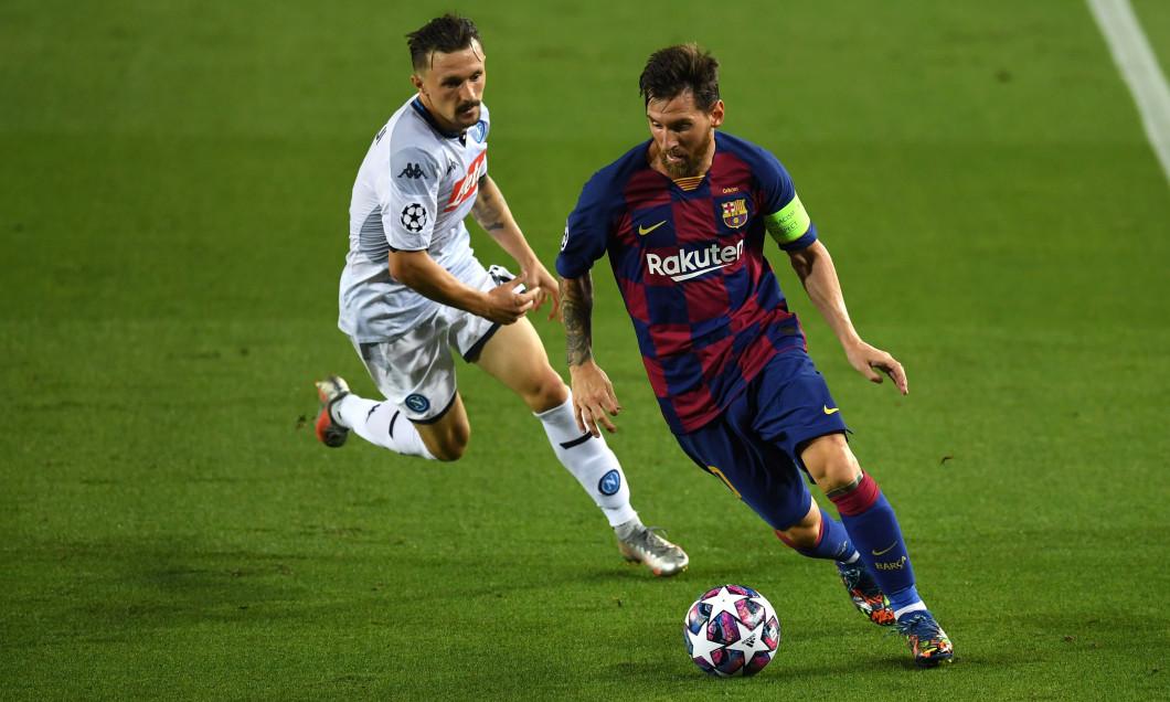 Lionel Messi, în meciul cu Napoli / Foto: Getty Images