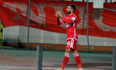 Mattia Montini, după un gol marcat pentru Dinamo într-o partidă cu FC Voluntari / Foto: Sport Pictures