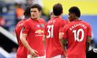 Jucătorii lui Manchester United, în meciul cu Leicester / Foto: Getty Images