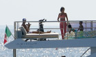 *EXCLUSIVE* Portuguese footballer Cristiano Ronaldo pictured relaxing with his girlfriend Model Georgina Rodriguez and their children on board his luxury $7 million dollar yacht.
