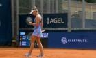 Simona Halep, în meciul cu Polona Hercog / Foto: Captură Digi Sport