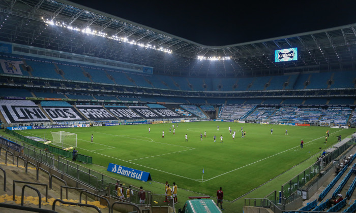 Gremio v Fluminense Play The First Round of the 2020 Brasileirao Series A Amidst the Coronavirus (COVID - 19) Pandemic