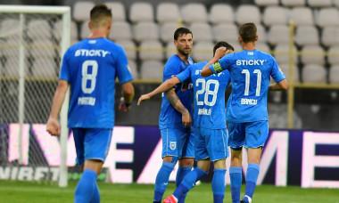 Alexandru Mateiu, Uros Cosic, Valentin Mihăilă și Nicușor Bancu, în meciul Gaz Metan - Craiova / Foto: Sport Pictures