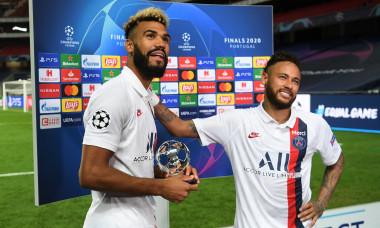Neymar și Eric Maxim Choupo-Moting, la finalul meciului cu Atalanta / Foto: Profimedia