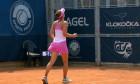 Irina Begu, după calificarea în sferturile turneului de la Praga / Foto: Captură Digi Sport