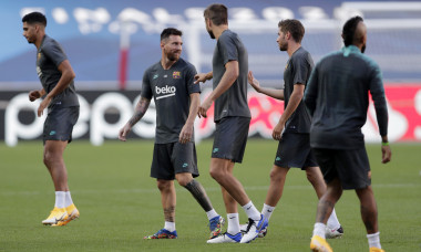 Barcelona Training Session - UEFA Champions League