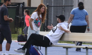 *EXCLUSIVE* Shakira and Gerard Pique cheer on their kids Sasha and Milan at their Friday soccer practice