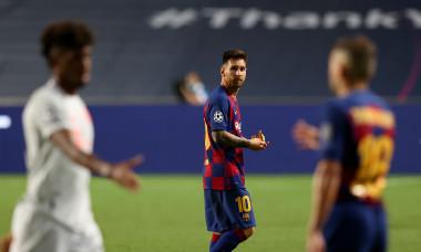 Lionel Messi, la finalul meciului cu Bayern / Foto: Getty Images