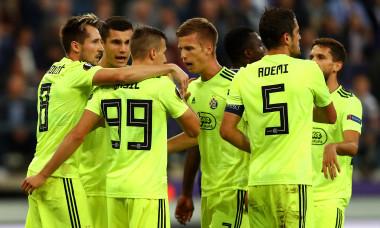 Jucătorii lui Dinamo Zagreb, într-un meci cu Anderlecht / Foto: Getty Images