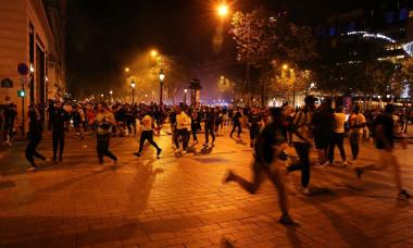 12 - Ambiance dans les rues de rues de Paris suite ŕ la victoire du PSG face ŕ Leipzig en demi-finale de la Ligue des Champions ŕ Lisbonne