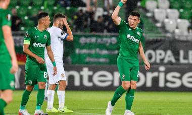 Claudiu Keșeru, după un gol marcat pentru Ludogorets / Foto: Profimedia