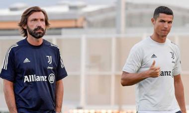 Andrea Pirlo, alături de Cristiano Ronaldo la antrenamentul lui Juventus / Foto: Instagram/Juventus