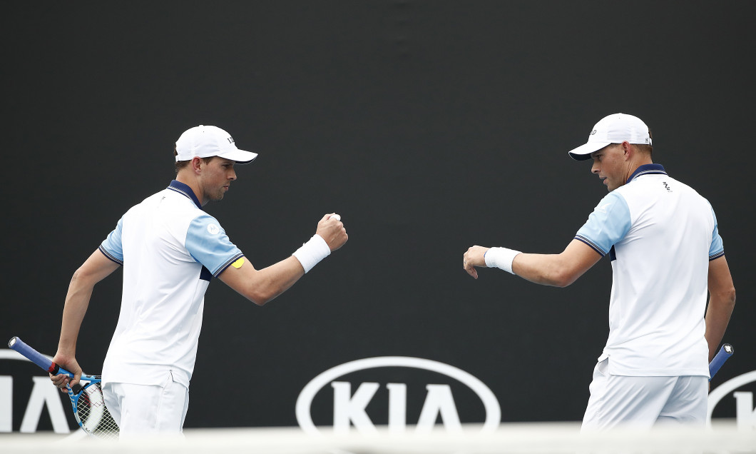 Bob și Mike Bryan, la Australian Open 2020 / Foto: Getty Images