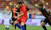Sergiu Buș, în meciul dintre FCSB și FC Shirak / Foto: Sport Pictures