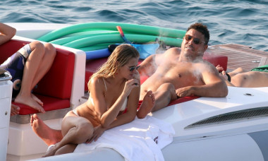 *EXCLUSIVE* Brazilian football legend Ronaldo and his girlfriend Celina Locks enjoy a day at sea in Formentera