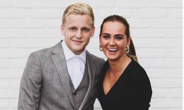 Estelle Bergkamp și Donny van de Beek / Foto: Instagram/Estelle Bergkamp