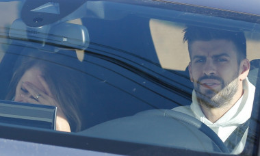 EXCLUSIVE: Gerard Pique Arrives At His House